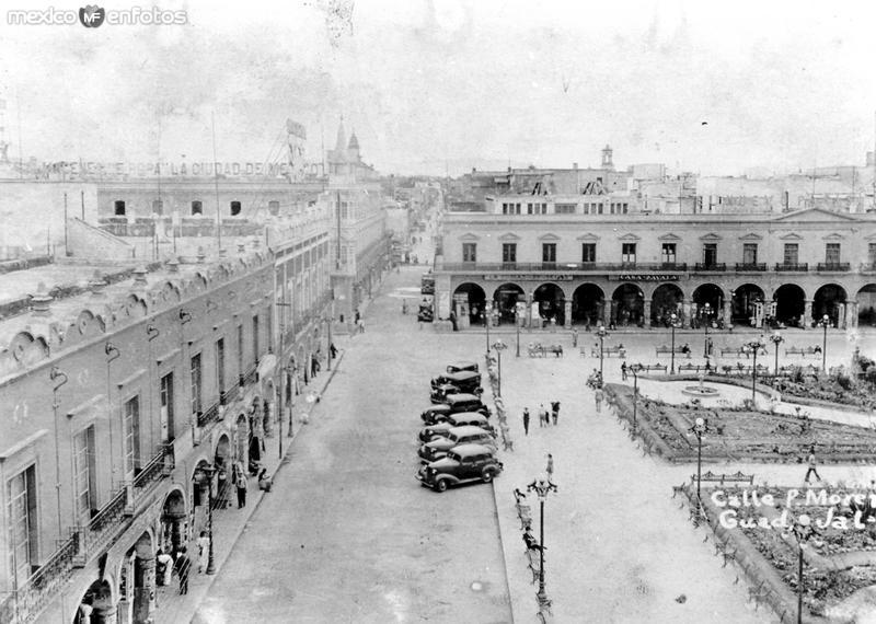 Calle Pedro Moreno, centro de Guadalajara