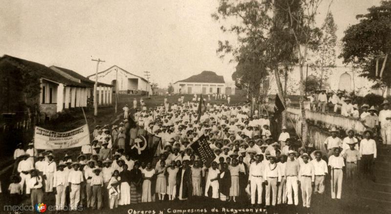 comunistas de Acayucan, 1930