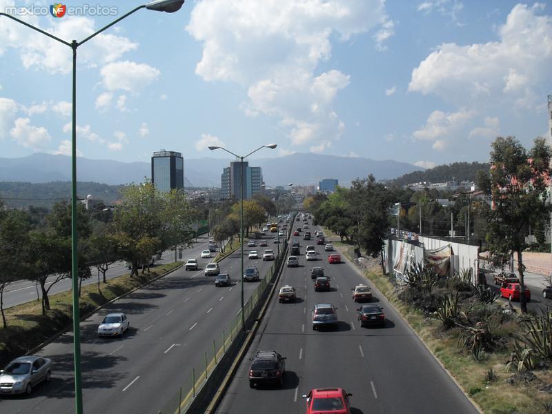 Periférico Sur en Cuicuilco hacia el Norte