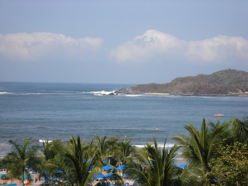 Oceano Pacífico desde el Hotel Gran Melia Azul Ixtapa.