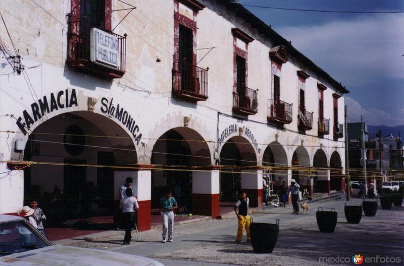 Portales en el centro de Atotonilco el Grande, Hidalgo