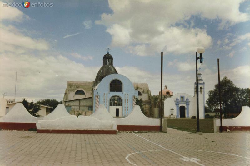Zócalo y parroquia de Concepción Cuautla, Puebla