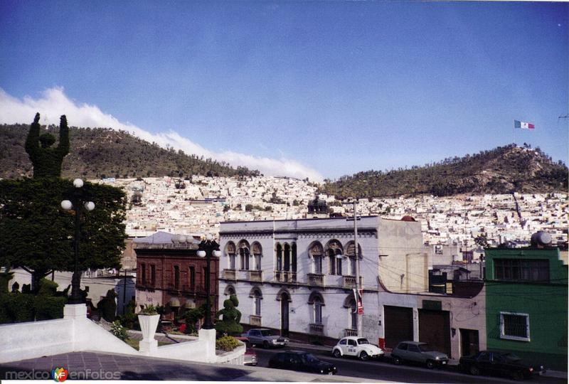 Edificios coloniales y la ciudad de Pachuca de Soto, Hidalgo