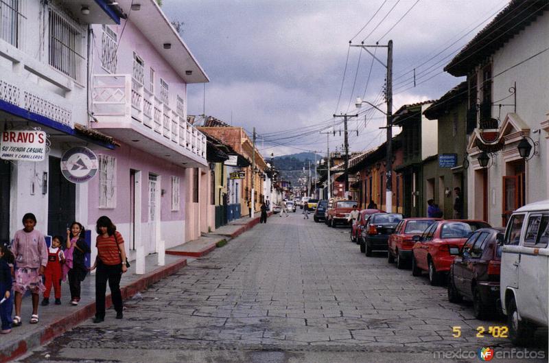 Calle del centro de San Cristobal de las Casas, Chiapas