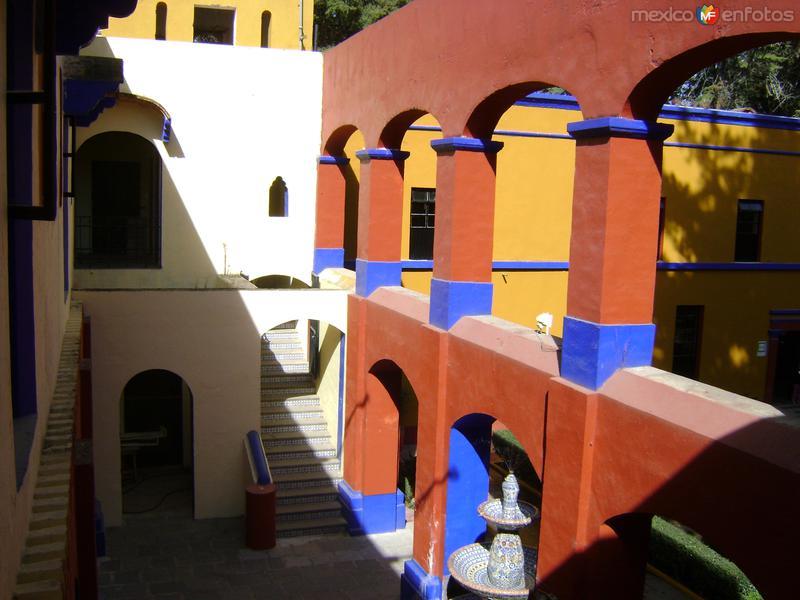Portales en el patio central de la Ex-Hacienda de Chautla, Puebla