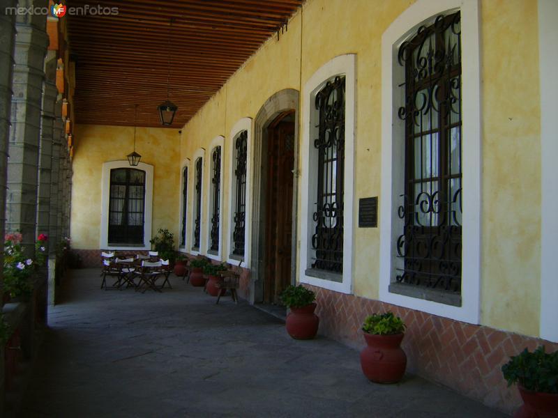 Terraza de la Ex-hacienda Soltepec, siglo XVIII. Edo. de Tlaxcala
