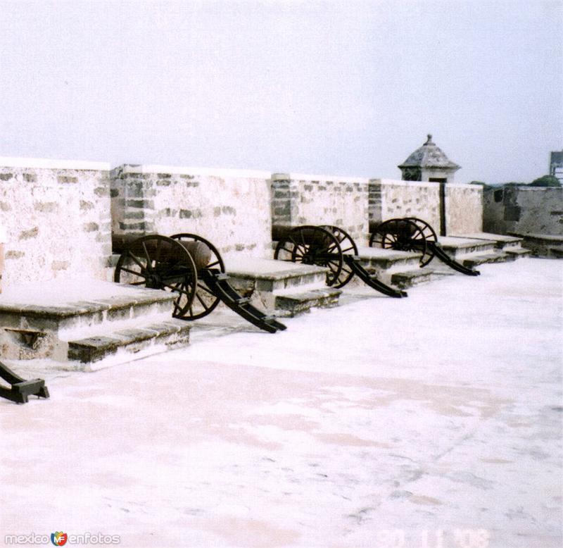 Cañones en el fuerte de San Miguel. Campeche, Campeche. 2008