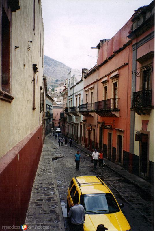 Calles del centro de la ciudad de Guanajuato, Gto. 2003