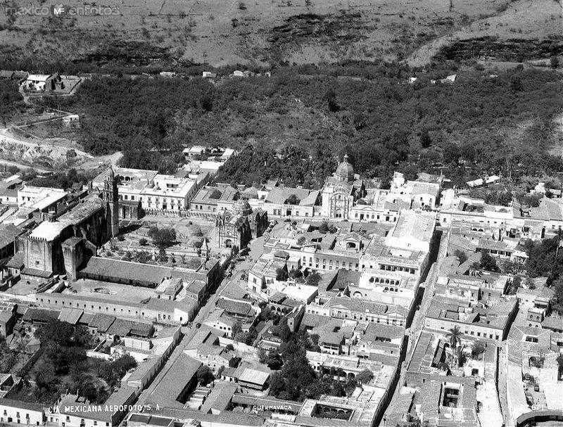 Centro de Cuernavaca en los años 1930s