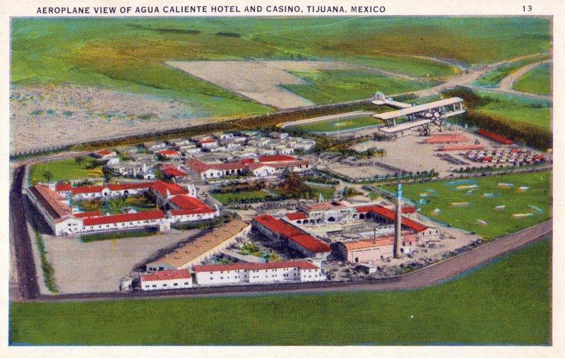 Vista aérea del Hotel y Casino de Agua Caliente