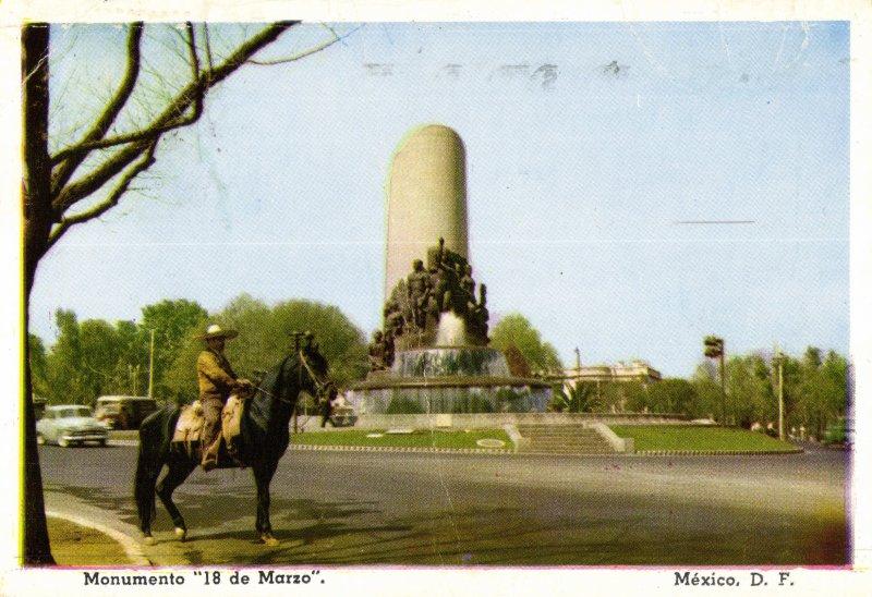 Monumento 18 de Marzo, día de la expropiación petrolera