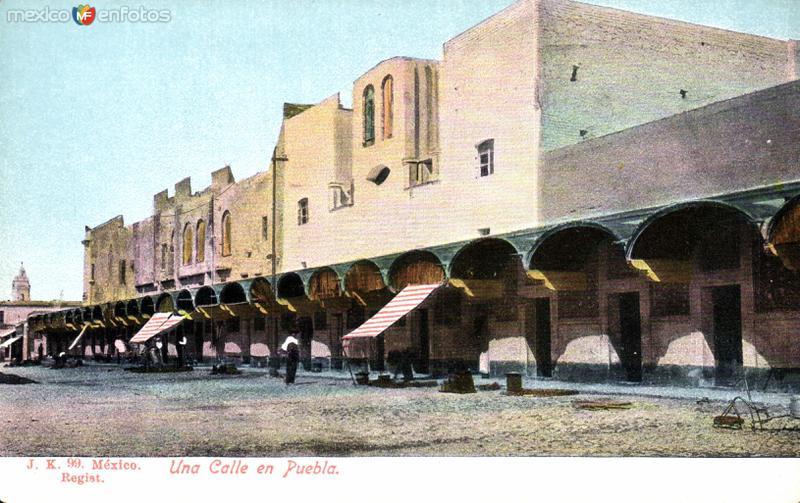 Una calle de Puebla
