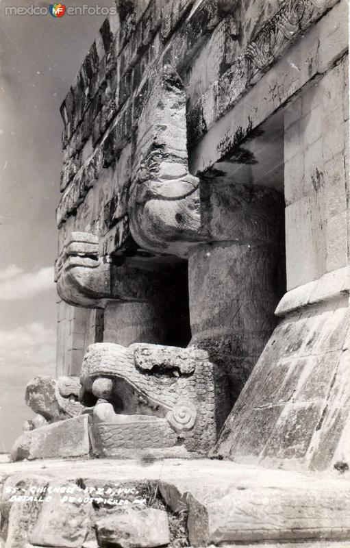 Chichén Itzá: Detalle de los Tigres
