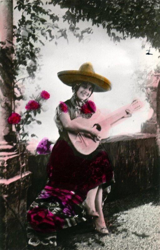 Señorita con guitarra
