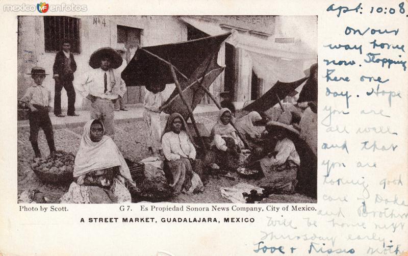 Un mercado ambulante