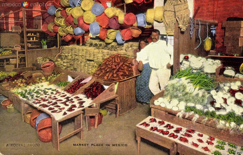 Un mercado popular en México