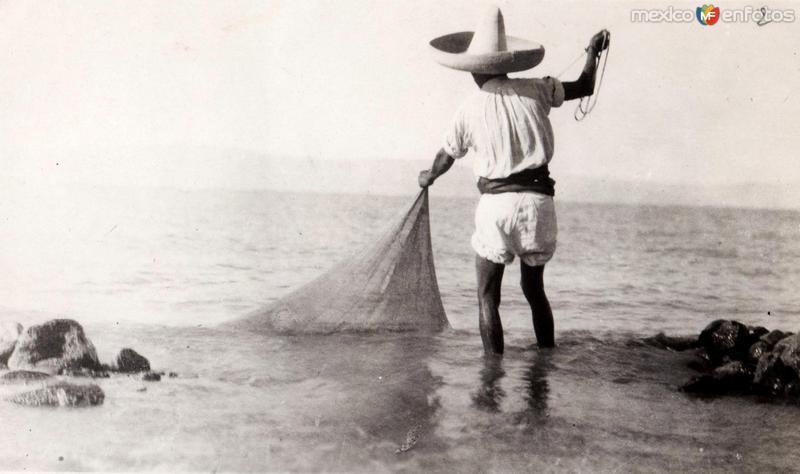 Un pescador mexicano