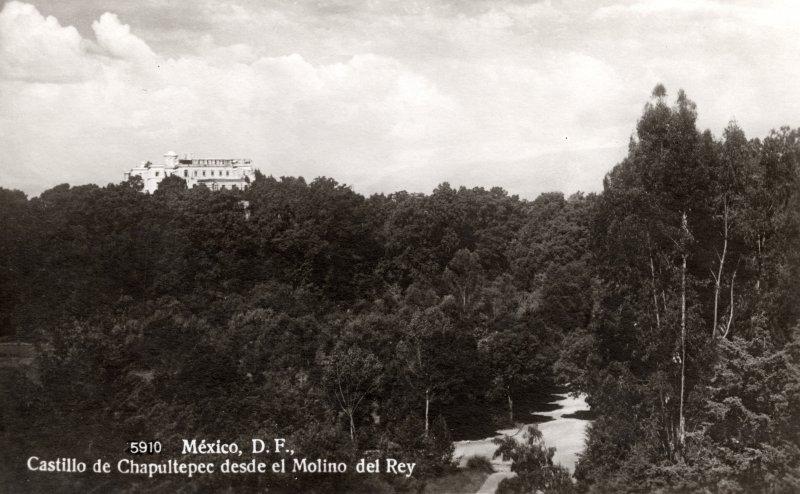 Castillo de Chapultepes desde el Molino del Rey