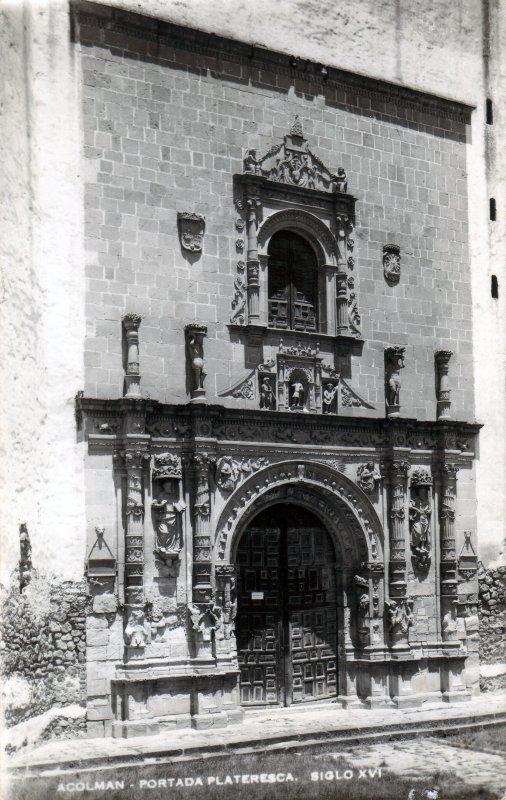 Portada plateresca del Templo de San Agustín Acolmán