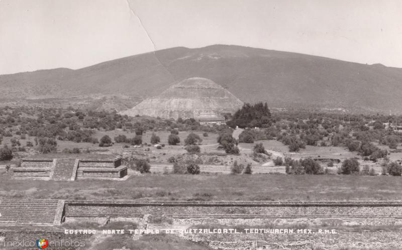 Costado Norte. Templo de Quetzalcoatl