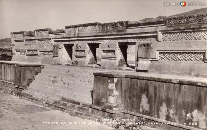 Frente exterior de la Sala de las Columnas