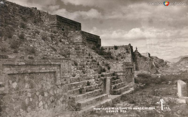 Montículo de las ruinas de Monte Albán