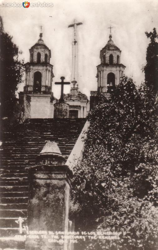 Escalera al Santuario de Los Remedios