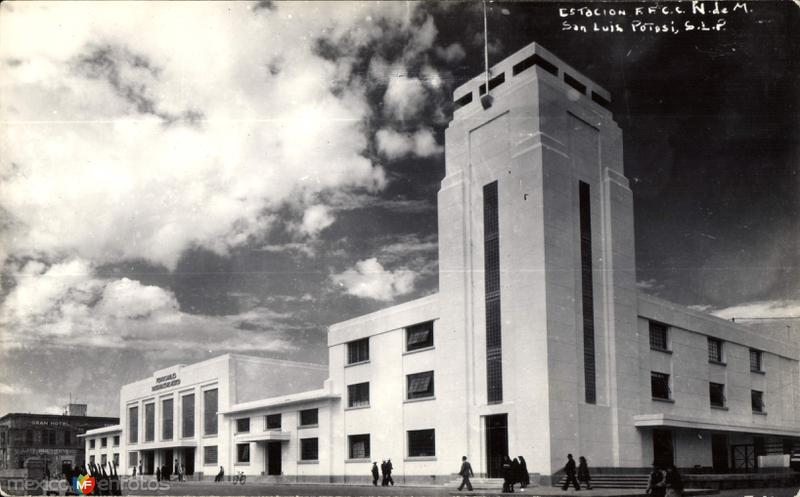 Estación del Ferrocarril (F. F. C. C. N. de M.)