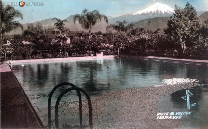 Vista al Pico de Orizaba desde el Hotel Ruiz Galindo