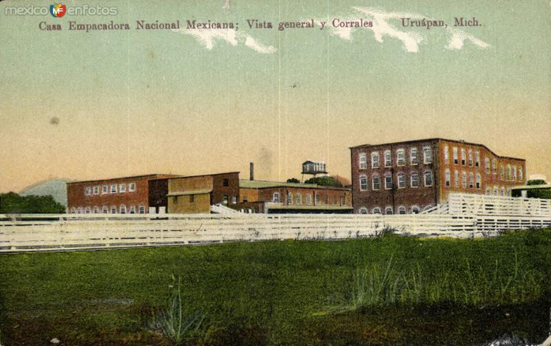 Casa Empacadora Nacional Mexicana. Vista General y Corrales
