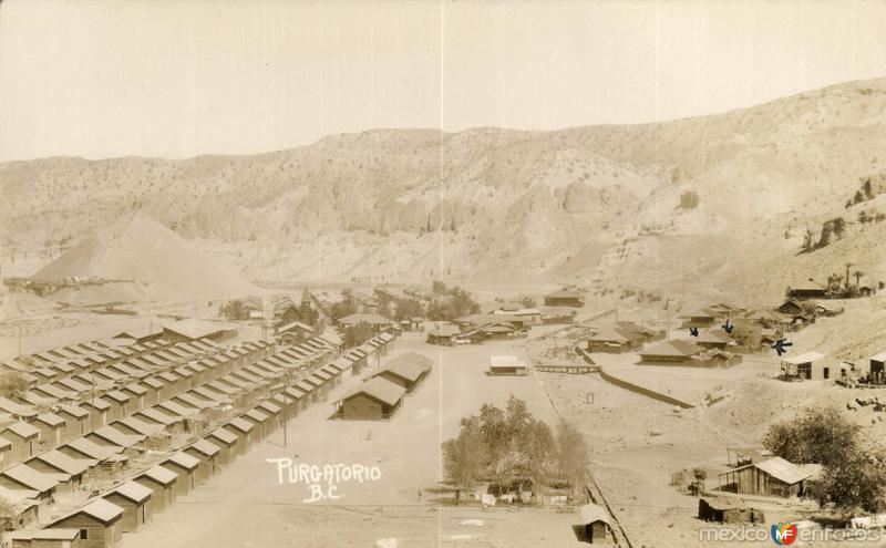 Vista general de las antiguas minas de El Purgatorio