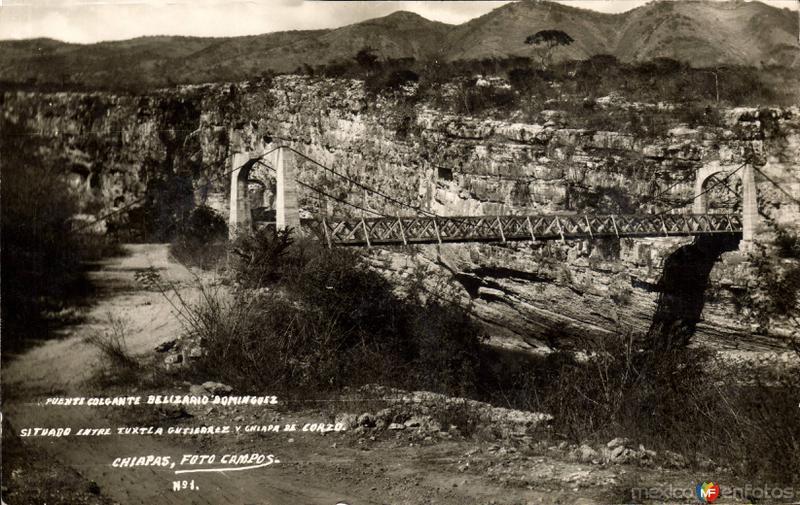 Puente colgante Belizario Domínguez
