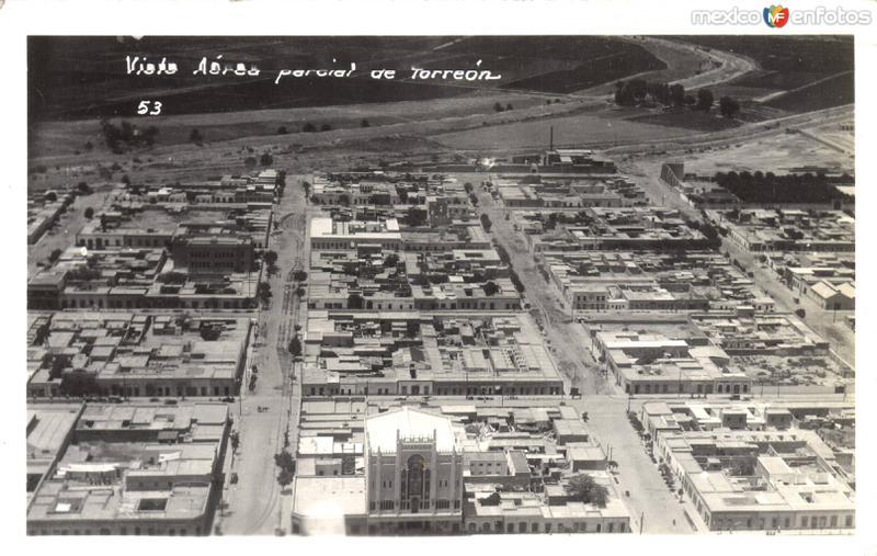 Vista aérea parcial de Torreón