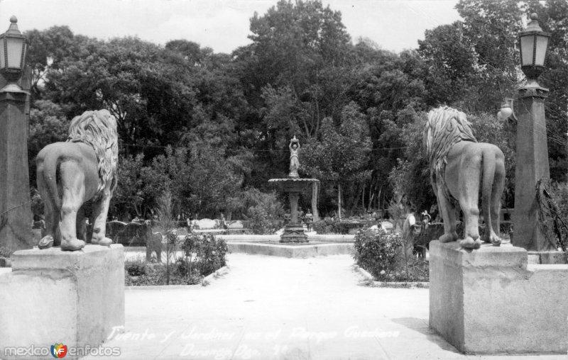 Fuente y Jardines en el Parque Guadiana