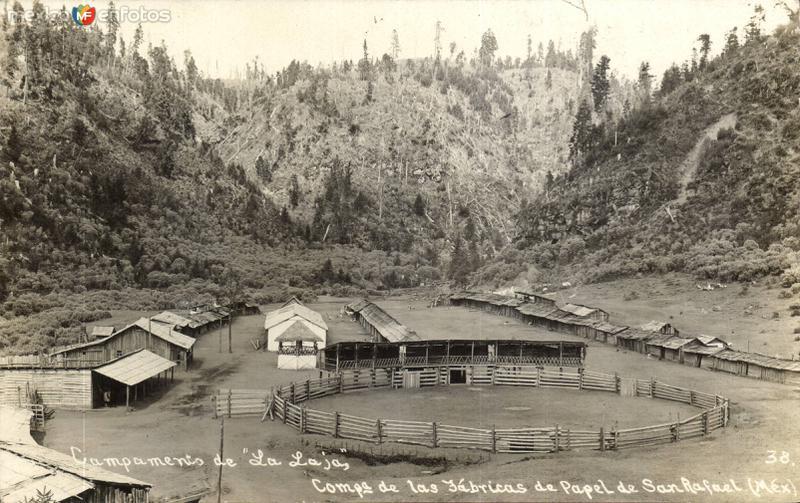Campamento de La Laja. Campañía de La Fábrica de Papel de San Rafael
