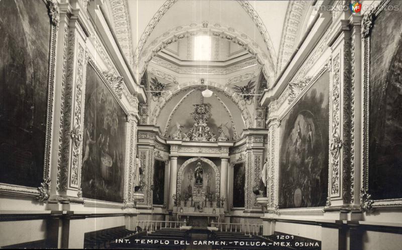 Interior del Templo del Carmen