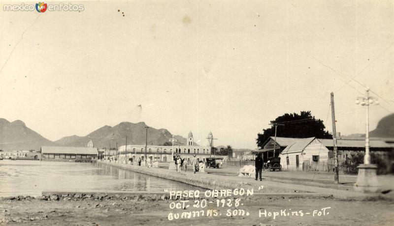 Paseo Obregón. Oct. 20 de 1928