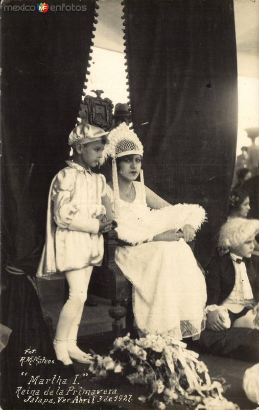 Reina de la Primavera. Jalapa. Abril 3 de 1927