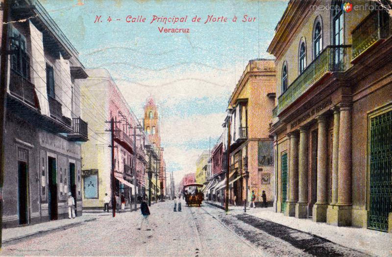 Calle principal de norte a sur