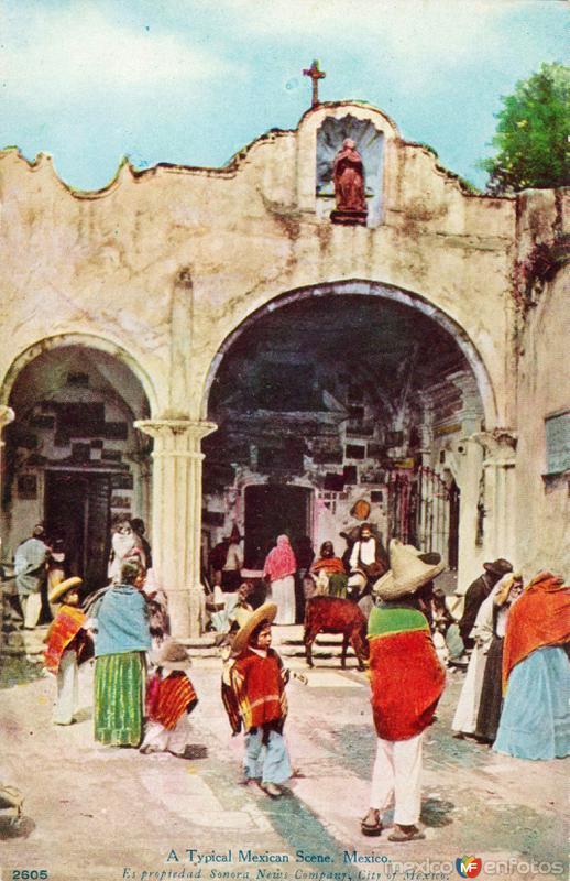 Escena típica mexicana