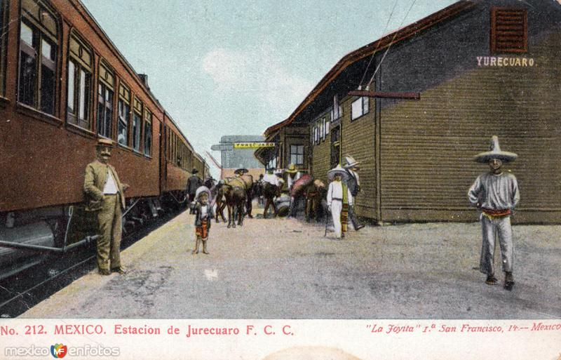 Estación del Ferrocarril en Yurécuaro