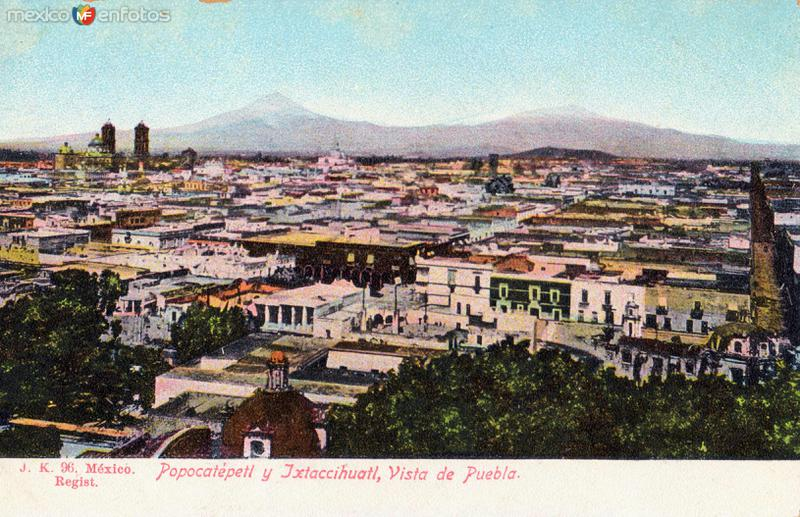 Vista panorámica de Puebla y Volcanes
