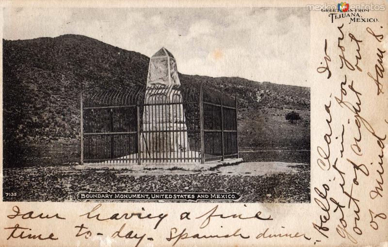 Monumento de la frontera entre México y los Estados Unidos