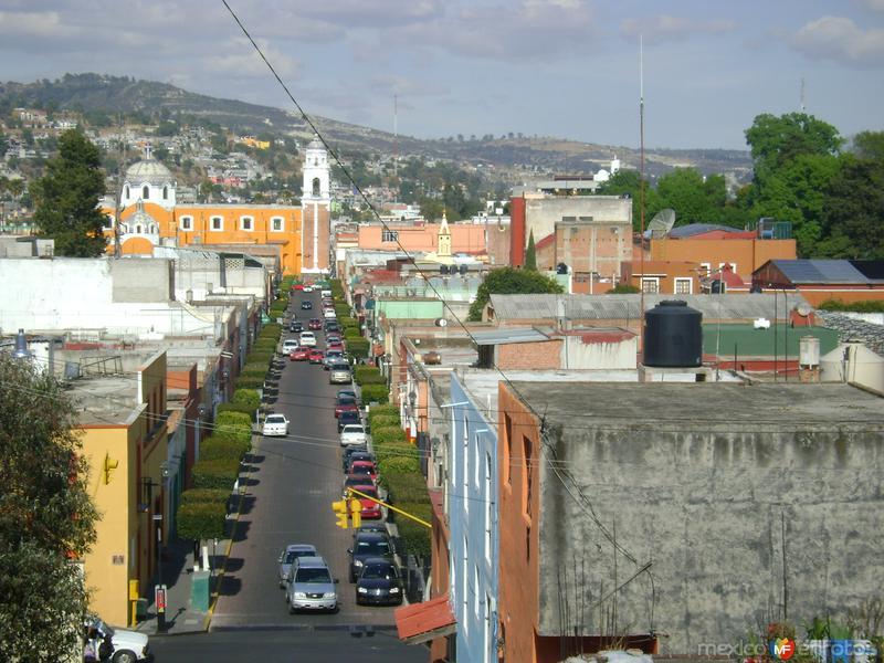 Panorámica de la calle Porfirio Díaz y Templo de San José. Enero/2012