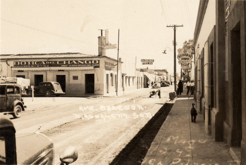Avenida Obregón y Botica del Chango