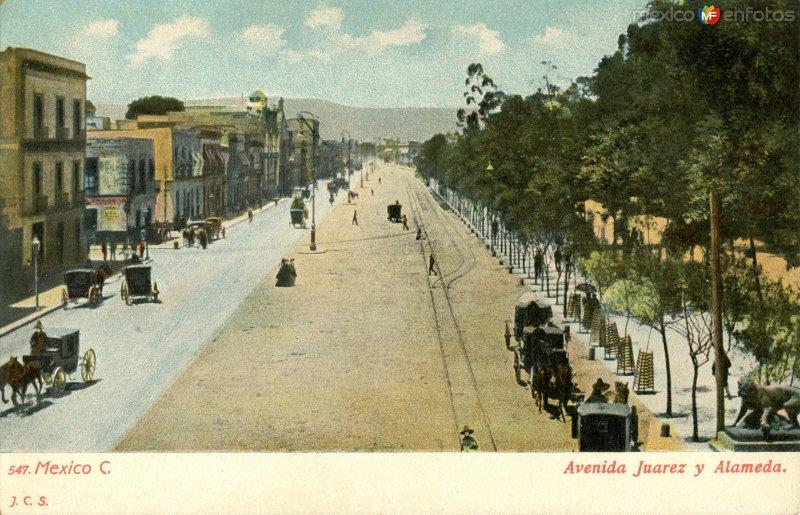 Avenida Juárez y Alameda Central