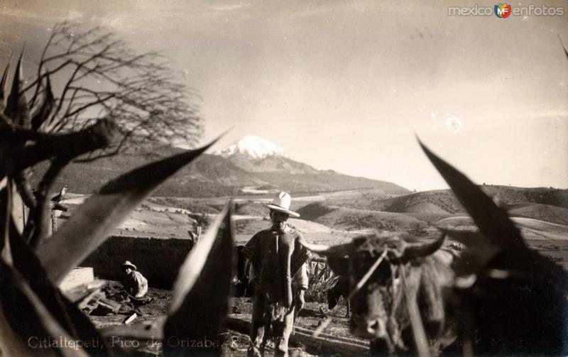 El Pico de Orizaba (Volcán Citlatépetl, o Cerro de la Estrella)