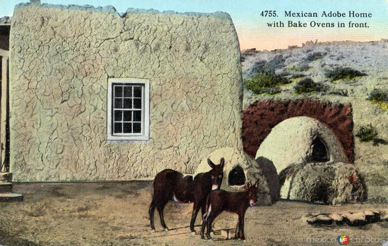 Casa de adobe con hornos tradicionales