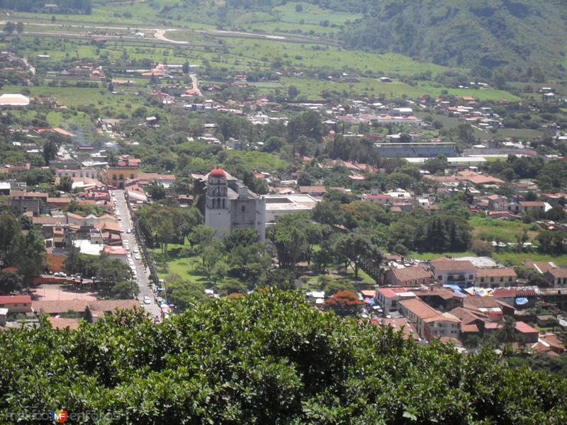 Panoramica de Malinalco desde la zona arqueologica
