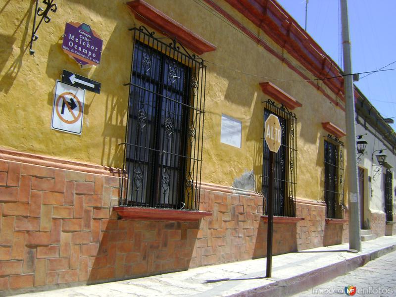 Arquitectura en el centro histórico de Cadereyta. Marzo/2012